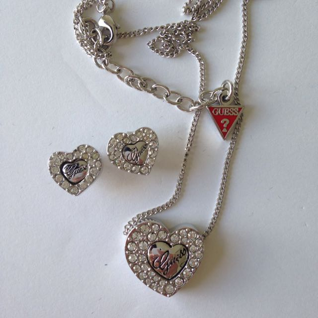 Guess Necklace And Earring Set