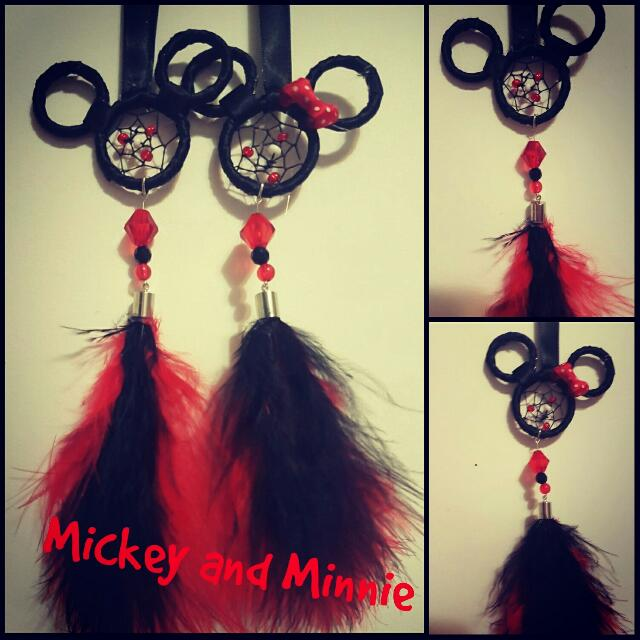 Hand-Made Mickey and Minnie Mouse Dreamcatcher