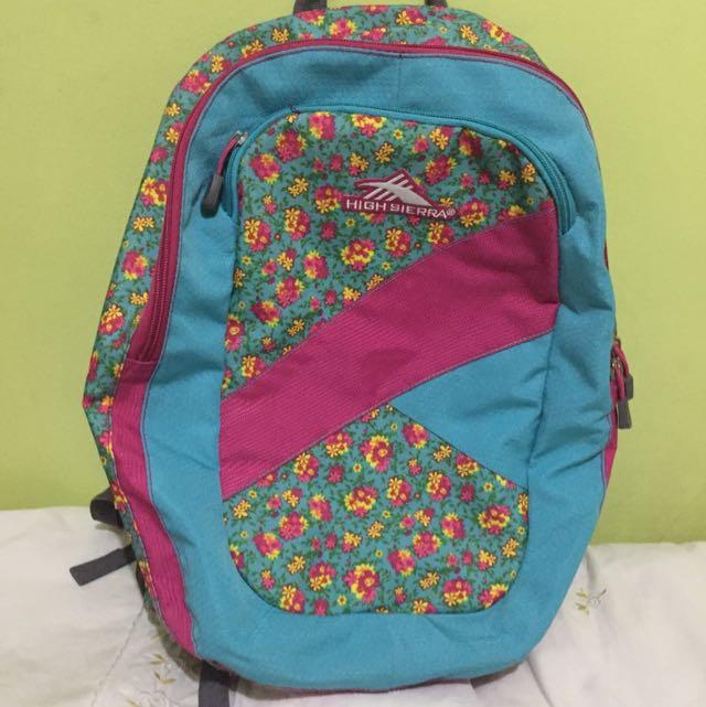 High Sierra Floral Backpack