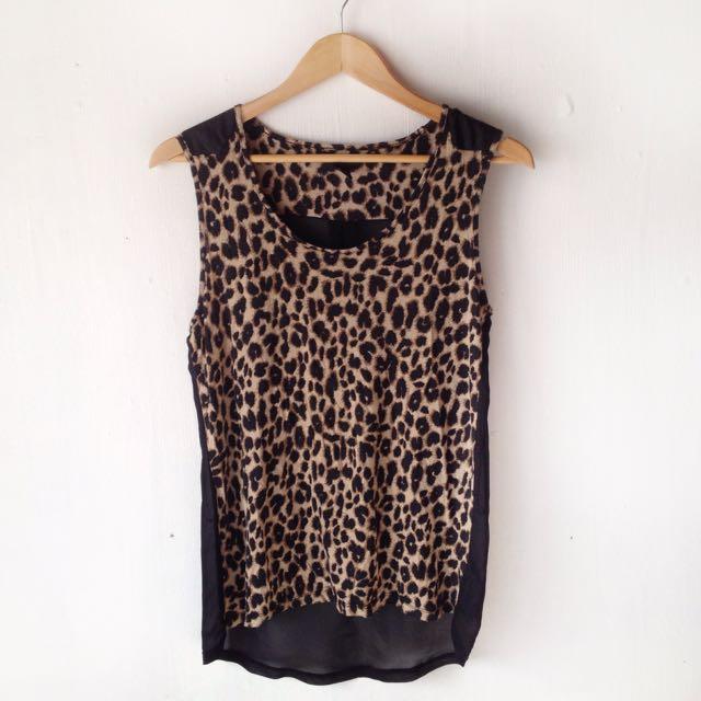 H&M Leopard-print Sleeveless