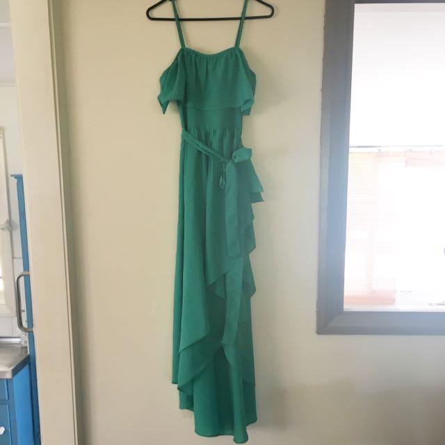 Honey & Beau Green Cocktail Dress