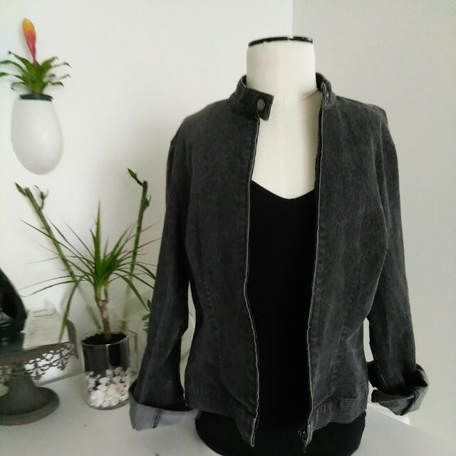 Jacob Denim Mockneck Jacket