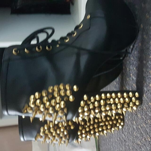 Jeffrey Campbell Spiked Boots Size 6