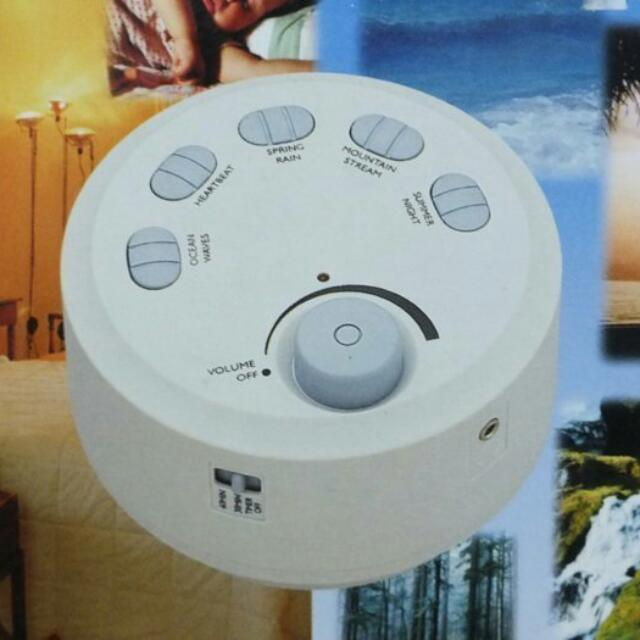 JOHNLITE睡眠音效器-5種音效可選擇/可定時 調整音量/電池式-有助眠&放鬆效果