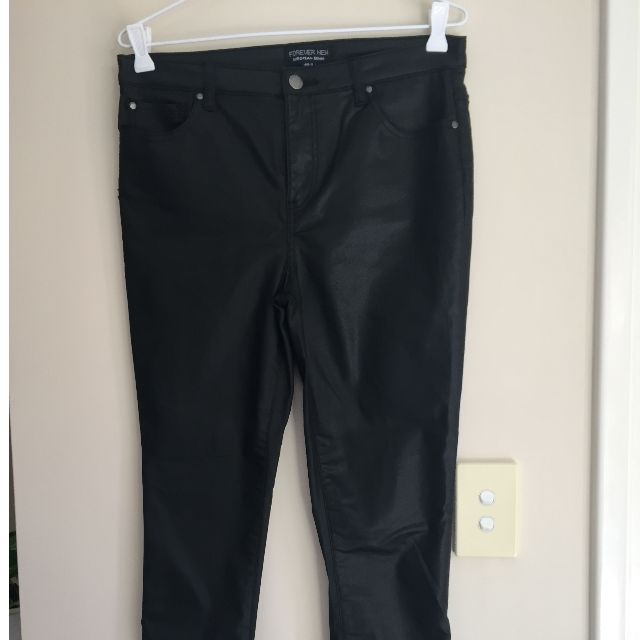 Leather Look Black Pants