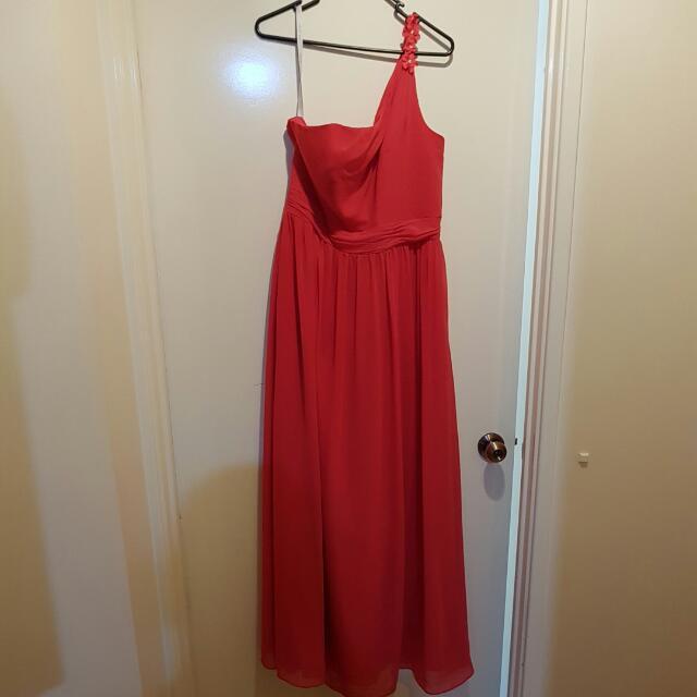 long floor length dress (reddish/pink color)