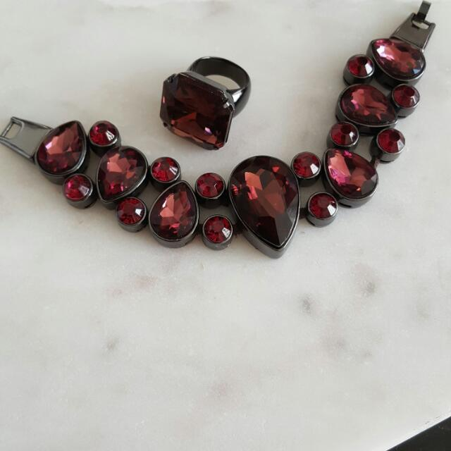 Marciano Ruby Bracelet And Ring