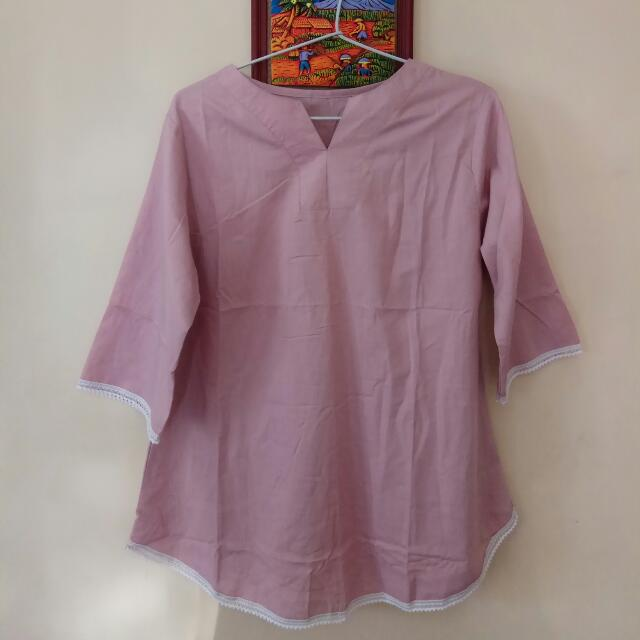 NEW , pink blouse