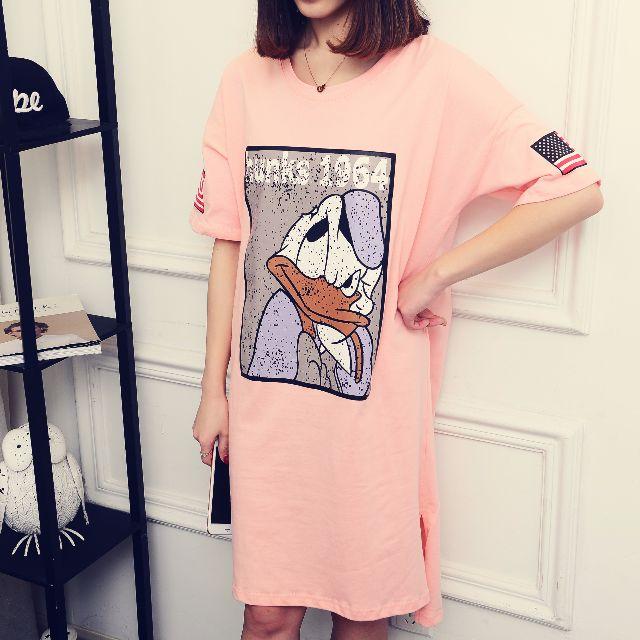 【NEW ARRIVAL】Long tishirt skirt Donald duck