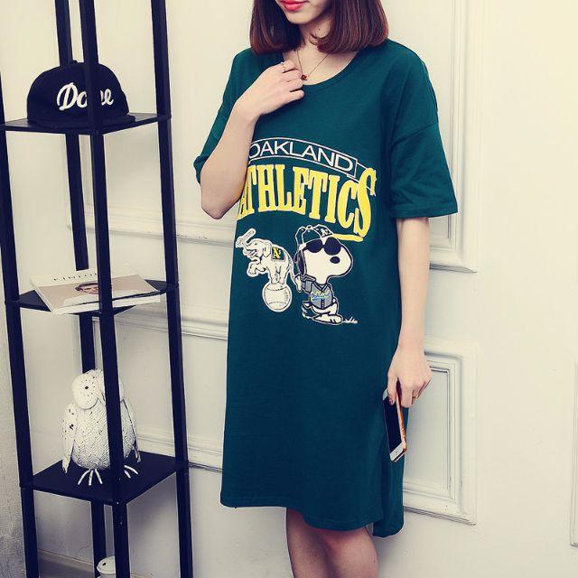 【NEW ARRIVAL】Long tishirt skirt snoopy