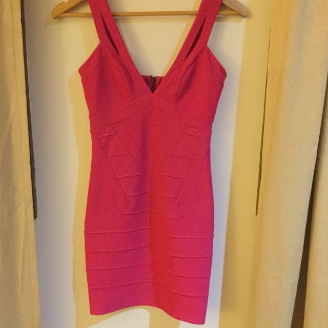 Pink Body Con Dress Block out