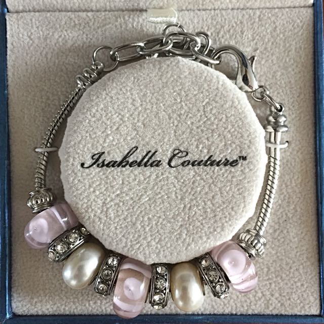Pink, Pearl and Diamonte Bracelet