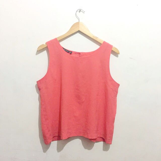 Pink Sleeveless Top (Buttoned back)