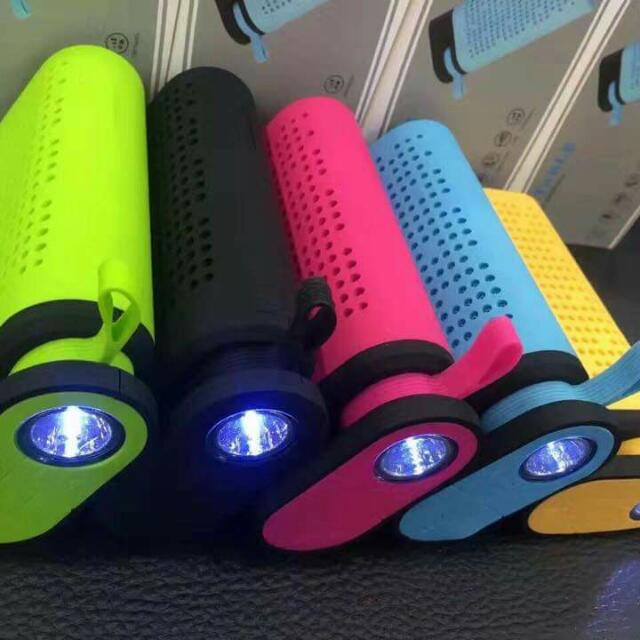 Portable Wireless Bluetooth Speaker and 4000 mAh Power Bank with FlashLight