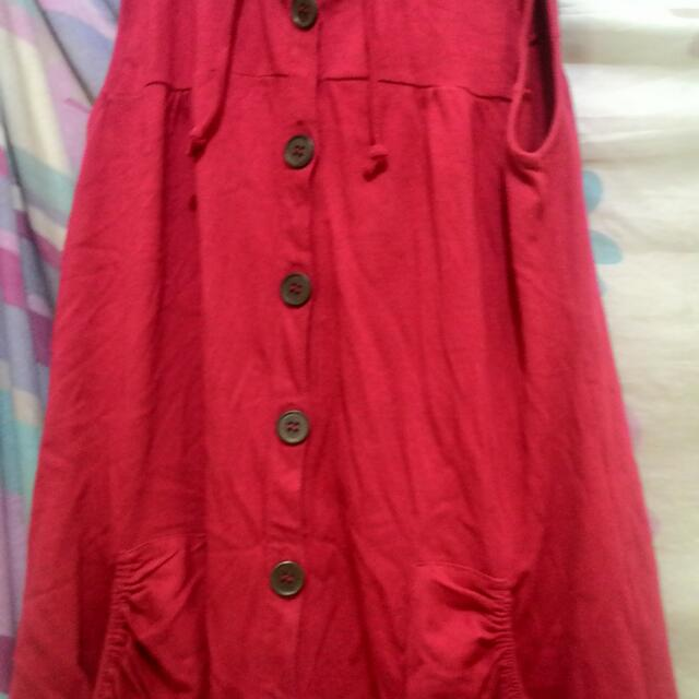 Red Outer Hoodie by cottonclub