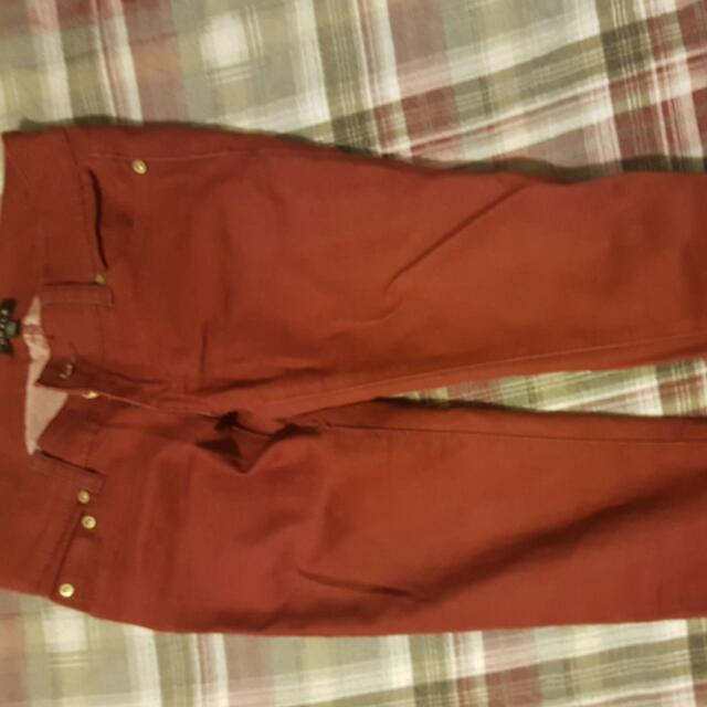 Red Skinny Jeans Size 0