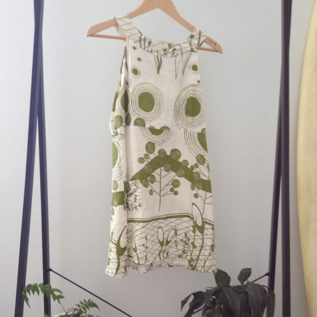 Retro Handmade Bird Dress Size M