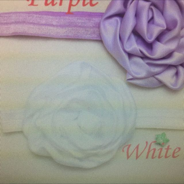 Rose In spring Head Band (white)