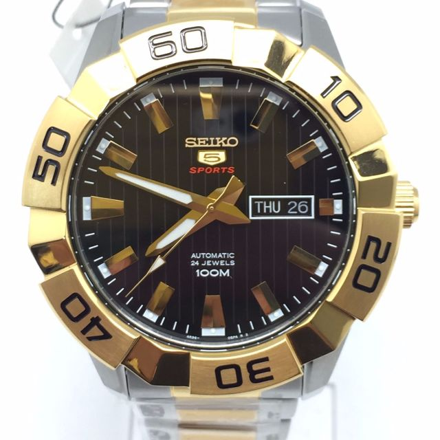 616e327a8 SEIKO 5 Automatic Black Dial Two Tone Men's Watch SRPA56 SRPA56K1, Men's  Fashion, Watches on Carousell