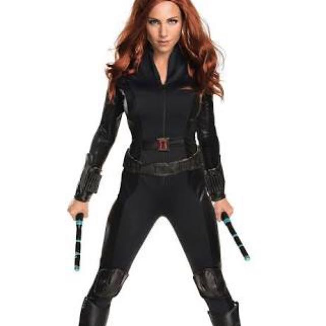 SIZE 12 BLACK WIDOW COSTUME