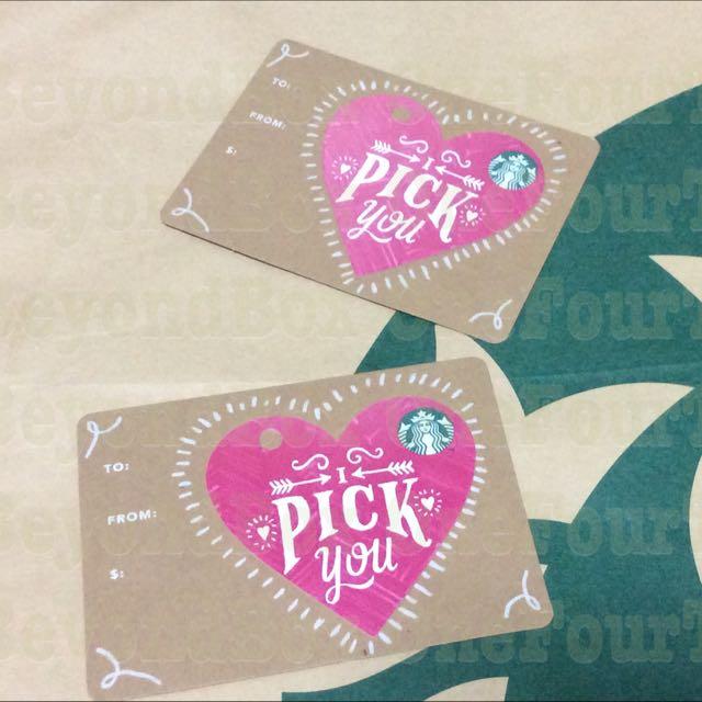 Starbucks I Pick You Pink Heart Diecut