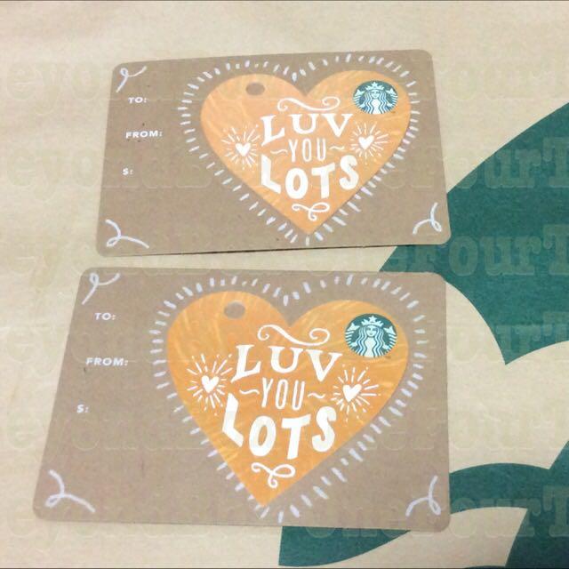 Starbucks Luv You Lots Orange Heart Diecut