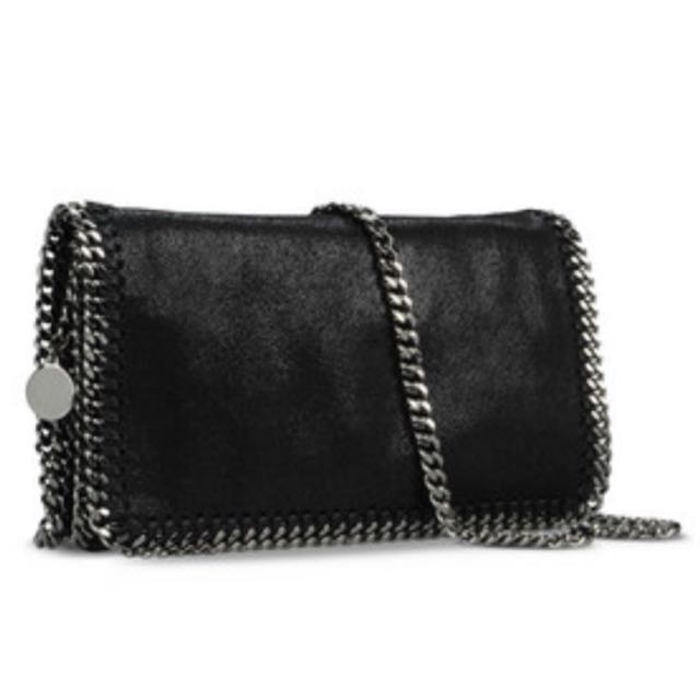 Stella McCartney Black Falabella Crossbody Bag Black