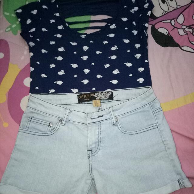 Top And Cotton On Short