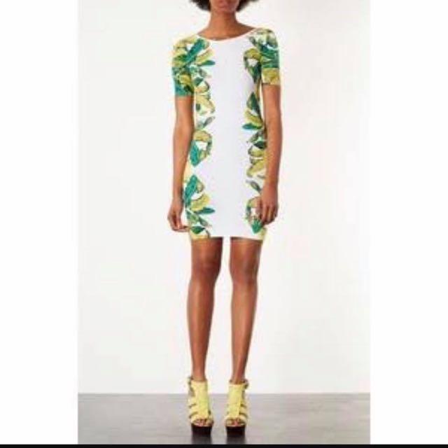 Topshop Banana Leaf Dress