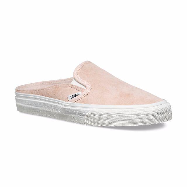 c566023d67868e Eur 38-39 Vans Scotchgard Slip-on Mule in Silver Peony Blanc de Blanc  (Pastel Pink)
