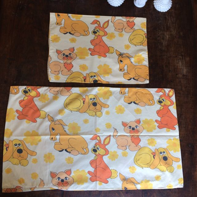 Vintage Children's Pillow Cases