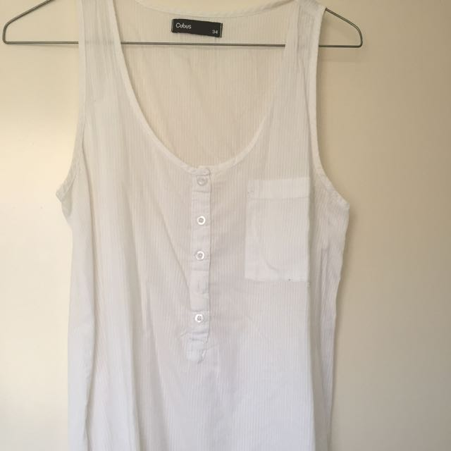 White Singlet Shirt Size 8 Or 34