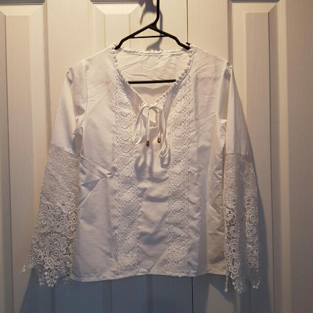 White Summery Crocher Top