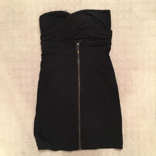 Zara Zip Mini Dress Size S