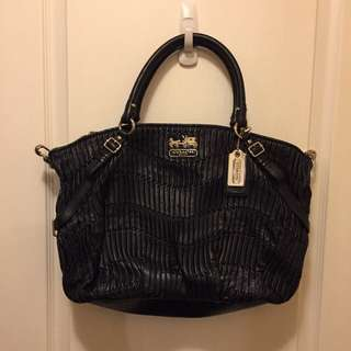 Coach Madison Gathered de Leather Large Sophia