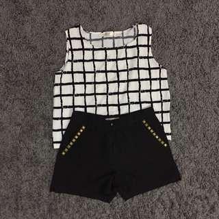 Apartment8 HW Shorts & Semi Crop Top