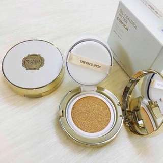 [REFILL] The Face Shop Miracle Finish Oil Control Water Cushion Shade V203