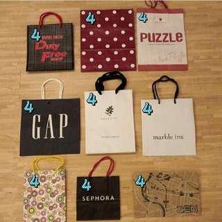 10元起↑↑名牌提袋/包裝袋