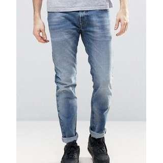 Diesel Thommer Jeans Slim - Skinny 853P 淺色水洗 W29 L30