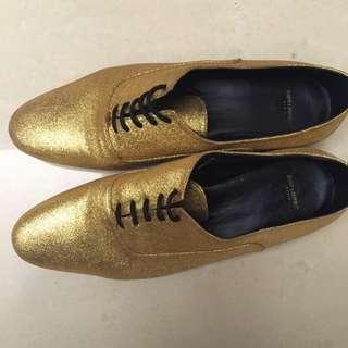 YSL Oxfords Flat牛津平底鞋 /Gold