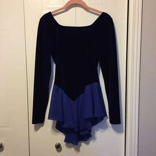 Women's Royal Blue Figure Skating Dress (Size Small)