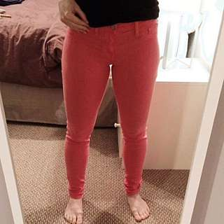 Coral Stretch Jeans