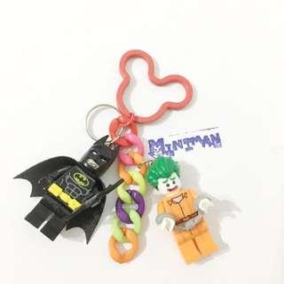 Miniman手作飾品 蝙蝠俠+小丑雙人偶鑰匙圈