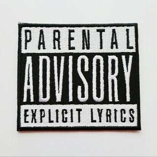 Parental Advisory Iron On Patch