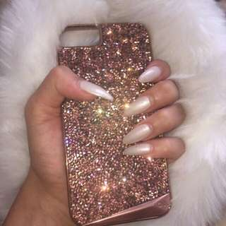 Genuine Rose Gold Crystal iPhone 6/6s Case