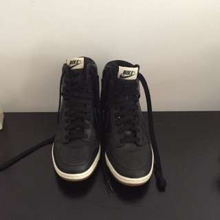 NIKE dunk Sky High Sneakers Black US size 8 RRP 150