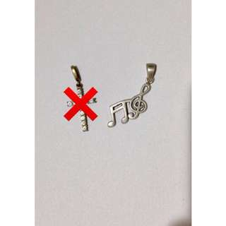 Silver Music Note Pendant