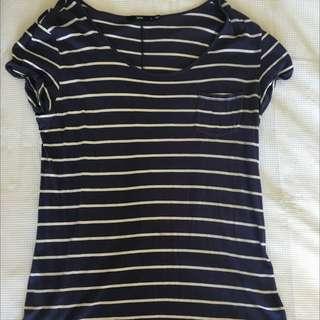 Navy Stripe Sportsgirl Tshirt Dress