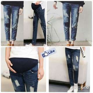 ripped maternity jeans  size s-m