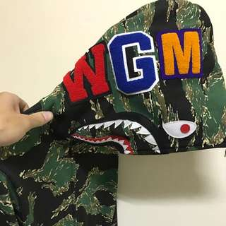 A Bathing Ape Bape Tiger Camp Shark Hoodie 虎紋迷彩鯊魚